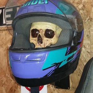 Helmet holder with
